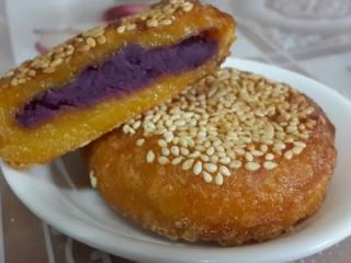 南瓜紫薯饼