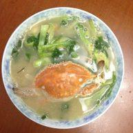 小青菜白蟹汤