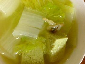 文蛤白菜豆腐汤
