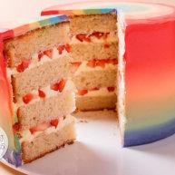 瑞士奶油霜 - 彩虹抹面蛋糕