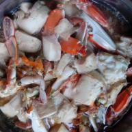 螃蟹蒸豆腐