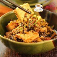 雪菜肉末烧豆腐