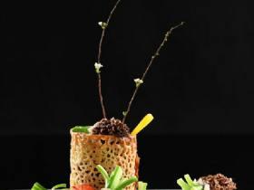 羊肚菌芥兰花