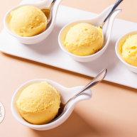 低脂芒果冰淇淋,脂肪含量仅有1%