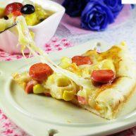 芝心香肠苹果披萨