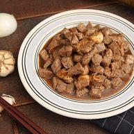 西餐中做的天津名菜,黑蒜子牛肉粒