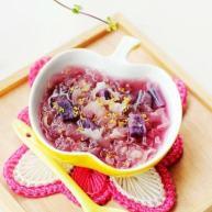 桂花紫薯银耳羹