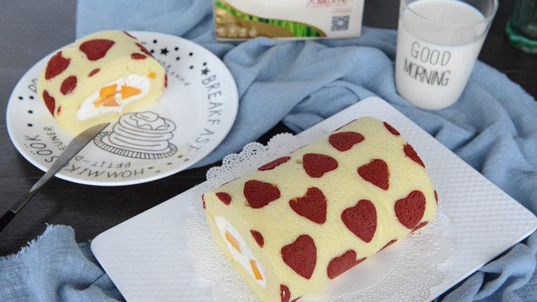 形彩绘芒果蛋糕卷