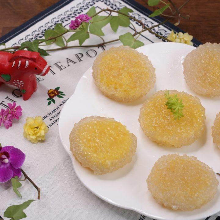 奶黄水晶饼