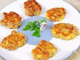 南瓜芝士牛肉饼 宝宝辅食,牛肉+面粉
