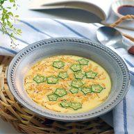 虾皮秋葵水蒸蛋,补钙又美味