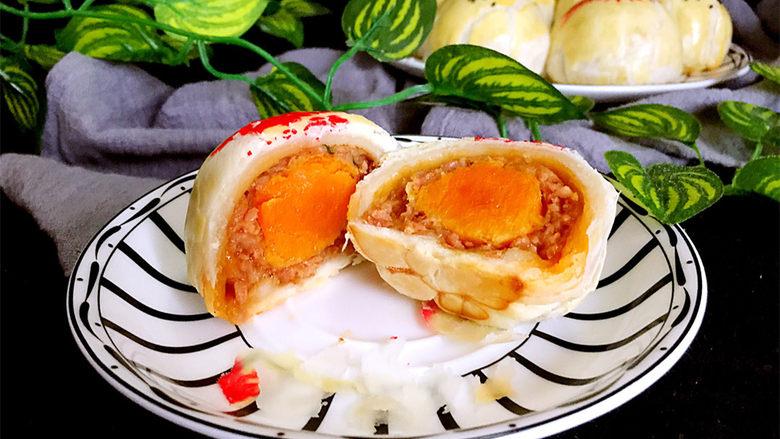 咸蛋黄鲜肉月饼