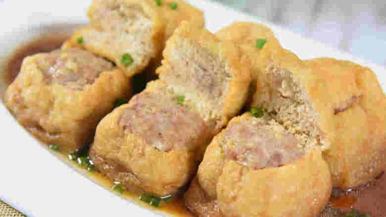 肉馅塞豆腐,钞票塞钱包,吃了这道菜钱包鼓鼓!