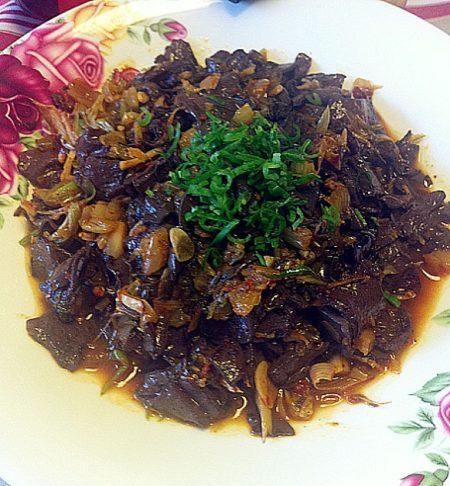 腌菜炒猪血的孕妇-菜谱大全-兔肉社区网上厨美食煲什么汤适合做法图片