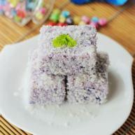 紫薯椰香凉糕