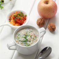 香菇青菜肉末粥
