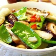 香菇荷兰豆炒马蹄