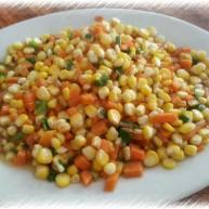 小炒玉米胡萝卜丁