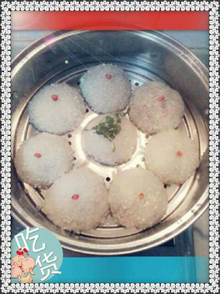 荠菜糯米粉团