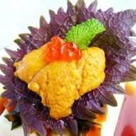 海胆紫苏松花蛋皮豆腐