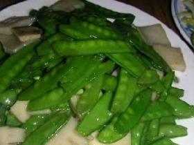 玉兰片炒荷兰豆
