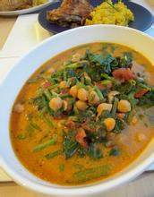 鸡豆咖哩蔬菜