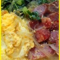 鸡蛋香肠粉丝汤