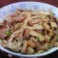 肉炒凤尾菇