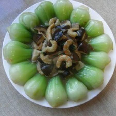 海米香菇扒油菜