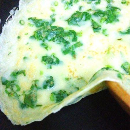 菠菜蛋摊煎饼