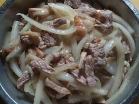 白菜梗炒猪肉