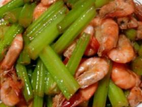 芹菜炒小河虾