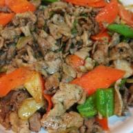 炒羊肉片(烤肉酱)