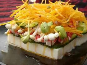 金针蟹柳豆腐舟