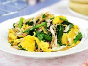 小白虾炒韭菜