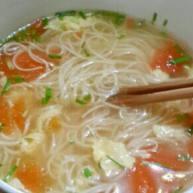 番茄鸡蛋清汤汤面