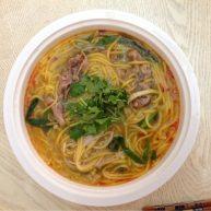羊肉片玉米面条汤面