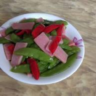 荷兰豆炒火腿