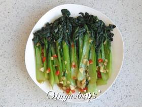 蒜香蚝油菊花菜