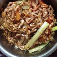 大葱炒小虾米