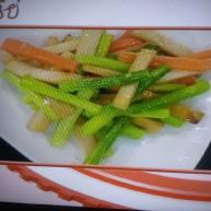杏鲍菇清炒芦笋