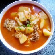 韩式辣酱炖土豆鸡骨架