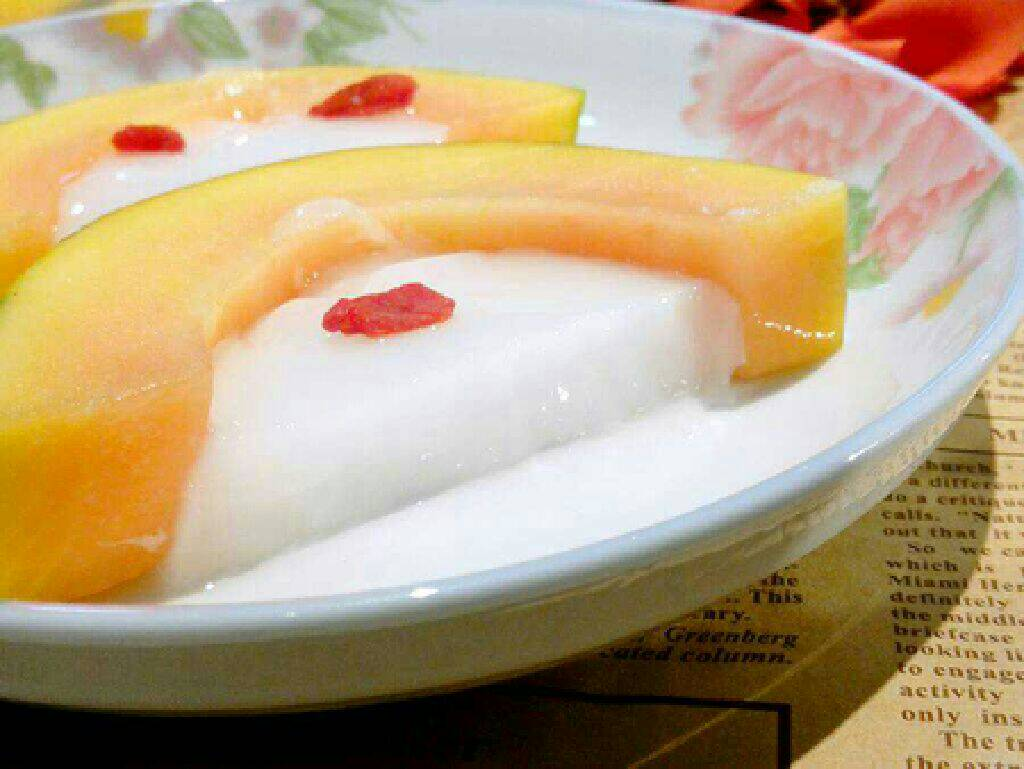 木瓜奶冻的正宗家常做法|教你做出超好吃的特色菜[有