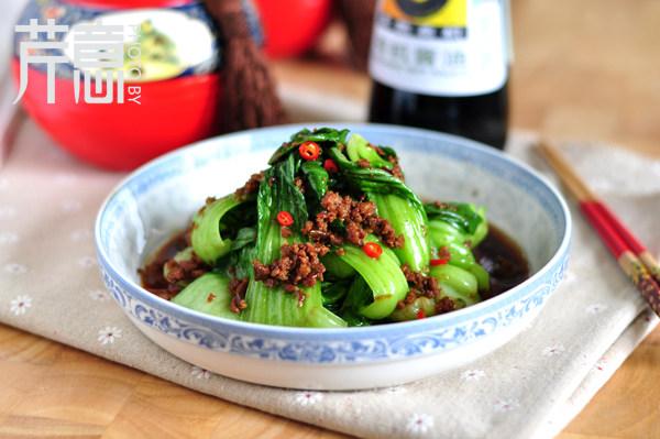 卤肉小油菜
