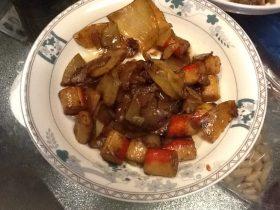蟹柳回锅土豆