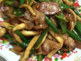 海鲜菇青椒炒猪肉