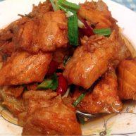 红烧三文鱼排