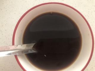 糖醋鸡蛋,以上配好的料汁➕半碗清水搅拌均匀。