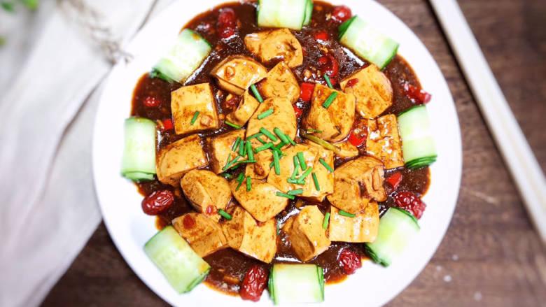 酸辣豆腐,成品图