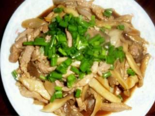 酱炒平菇肉丝